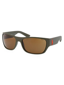 Polo Ralph Lauren® Olive Green Rectangle Sunglasses