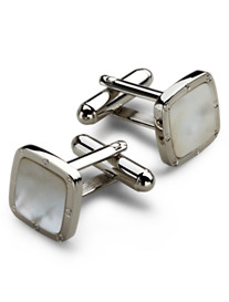 Link Up White Square Cuff Links
