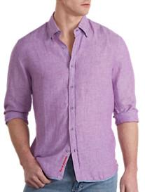 Rochester Solid Linen Sport Shirt