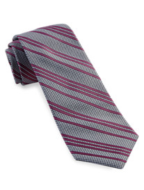 Michael Kors® Houndstooth Stripe Silk Tie
