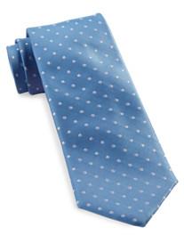 Tommy Hilfiger® White Polka Dot Silk Tie
