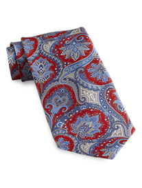 Rochester Made in Italy Multi Paisley Silk Tie