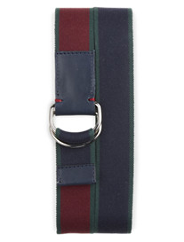 Brooks Brothers® Reversible Webbed D-Ring Stretch Belt