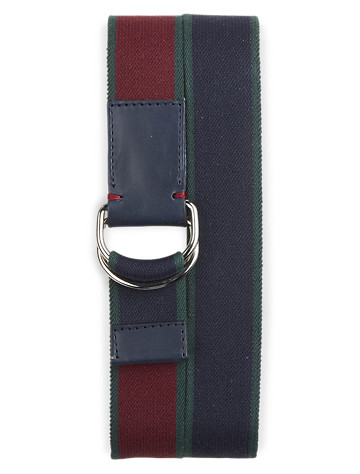 Brooks Brothers® Reversible Webbed D-Ring Stretch Belt - ( Belts & Suspenders )