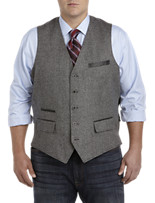 Rochester Birdseye Tweed Lambswool/Cashmere Vest