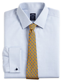 Brooks Brothers® Non-Iron Mini Tattersall French-Cuff Dress Shirt
