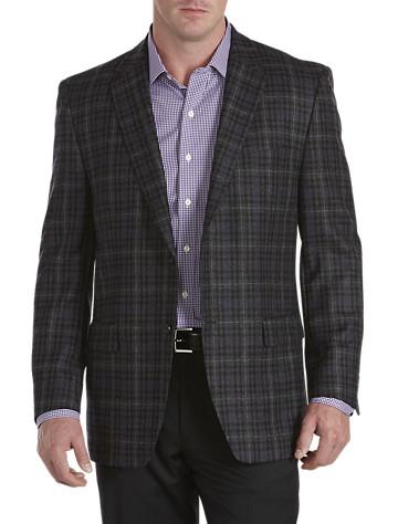 Rochester Windowpane Plaid Wool Sport Coat