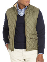 Brooks Brothers® Double-Quilted Zip-Front Down Vest