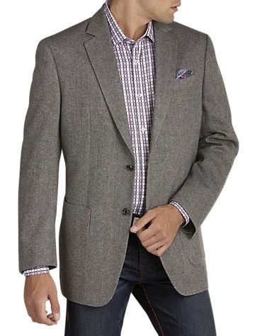 Tallia Orange Herringbone Wool Sport Coat (black whit)