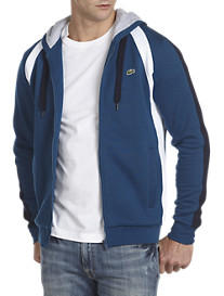 Lacoste® Colorblock Fleece Zip-Front Hoodie