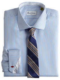 Robert Graham® Cosmo Herringbone Stripe Dress Shirt
