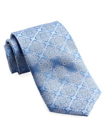 Rochester Large Floral Medallion Silk Tie