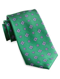 Rochester Small Floral Medallion Silk Tie