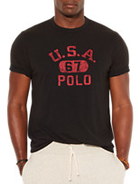 Polo Ralph Lauren® USA Solid Jersey Crewneck