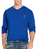 Polo Ralph Lauren® Solid Long-Sleeve V-Neck Tee