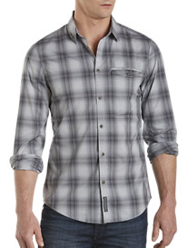 Calvin Klein Jeans® Zip-Pocket Plaid Sport Shirt