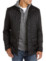 Calvin Klein Sport® Faux-Leather Trim Quilted Jacket