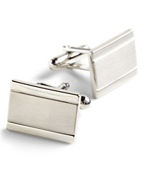 Link Up Matte/Shiny Rectangle Cuff Links