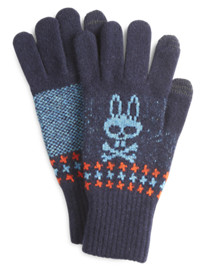 Psycho Bunny® Houndstooth Lambswool Touch Gloves