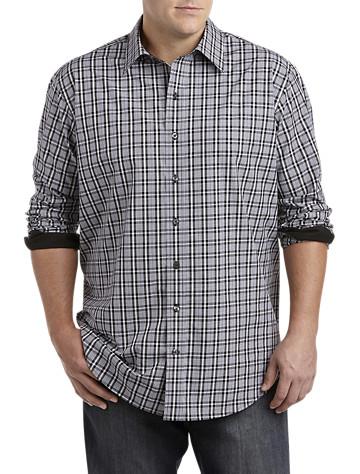 Twenty-Eight Degrees Plaid Sport Shirt (black)