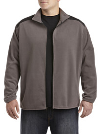 Society of One® Zip-Front Fleece Jacket with Nylon Trim