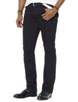 Polo Ralph Lauren® Tuxedo-Stripe Hampton Straight-Fit Harrow Black Wash Jeans