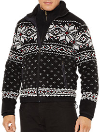 Polo Ralph Lauren® Snowflake Mockneck Zip-Front Knit Jacket