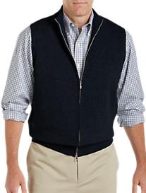 John Laing Lightweight Cashmere Zip-Front Vest