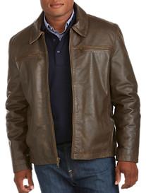 Marc New York Andrew Marc Romney Retro Calfskin Leather Jacket