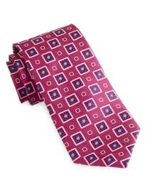 Rochester Floral Medallion Silk Tie