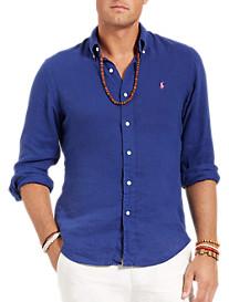 Polo Ralph Lauren® Solid Linen Sport Shirt