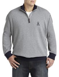 Psycho Bunny® Colorblock Quarter-Zip Pullover