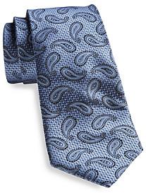 Rochester Small Dot Paisley Silk Tie