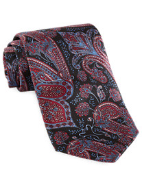 Rochester Made in Italy Large Paisley Silk Tie