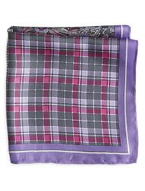 Rochester Multi-Pattern Silk Pocket Square