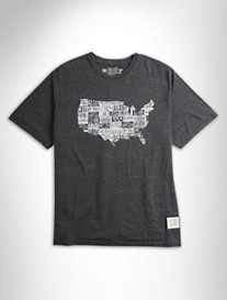 Retro Brand USA License Plate Graphic Tee