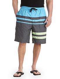 Rochester Colorblock Stripe Swim Trunks