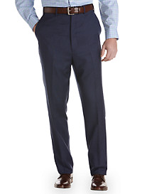 Ralph by Ralph Lauren Tonal Plaid Flat-Front Suit Pants