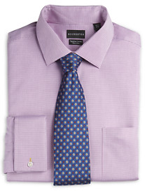 Rochester Non-Iron Textured Solid French-Cuff Dress Shirt