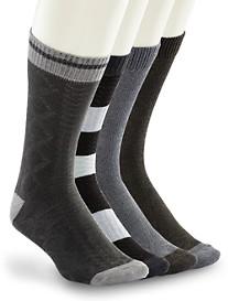 Lucky Brand® Charcoal Jacquard Crew Socks – 4 Pk.