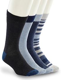 Lucky Brand® Blue Stripe Crew Socks – 4 Pk.