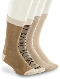 Lucky Brand® Khaki Print Crew Socks – 4 Pk.