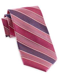 Rochester Wide Textured Stripe Silk Tie