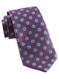 Rochester Small Textured Medallion Silk Tie
