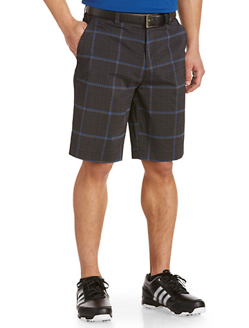 Callaway® Plaid Tech Flat-Front Shorts ( Active Bottoms )