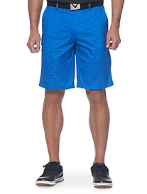 Callaway® Houndstooth Tech Flat-Front Shorts
