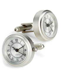 Link Up Silver Working Watch Cuff Links