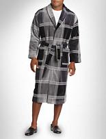 Majestic® Plaid Shawl-Collar Velour Robe