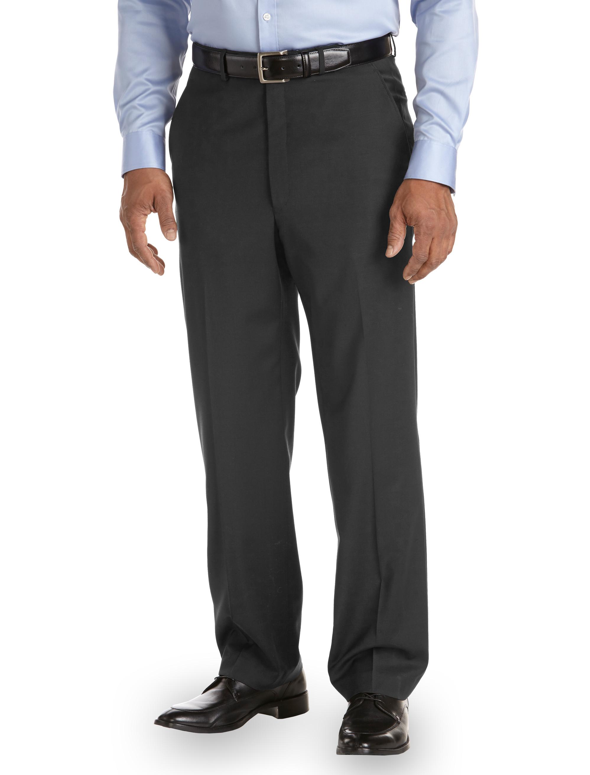 Ballin Comfort Eze Stripe Flat Front Dress Pants Casual