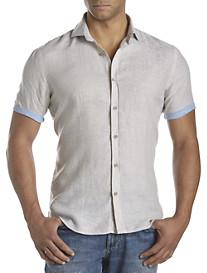 Rochester Short-Sleeve Solid Linen Sport Shirt
